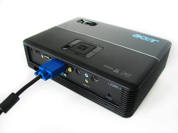 Conectar un proyector con VGA